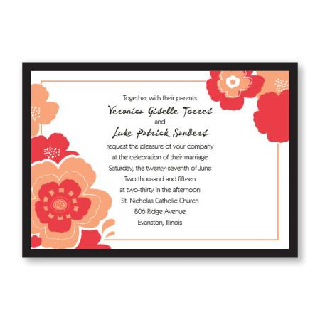 Charisma Floral Wedding Invitations