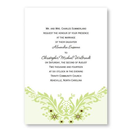 Charming Accent Wedding Invitations