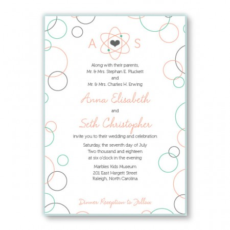 Chemistry 2-Layer Unique Wedding Invitations
