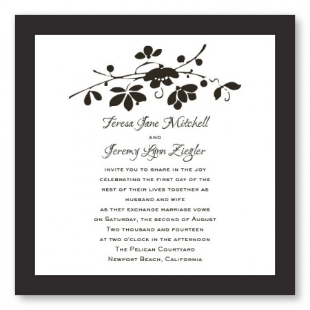 Cherry Blossom Branch Floral Wedding Invitations