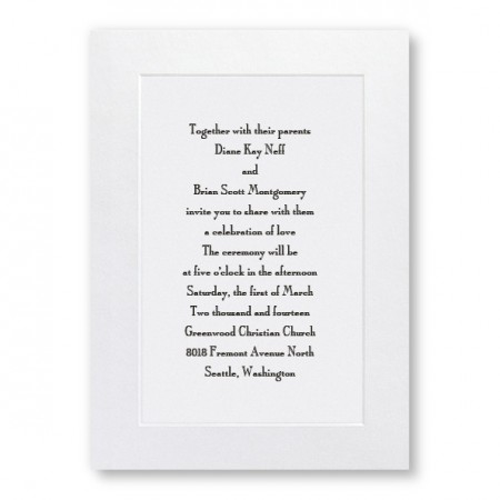 Classic Shimmer Beveled Wedding Invitations