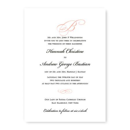 Classic Unique Wedding Invitations