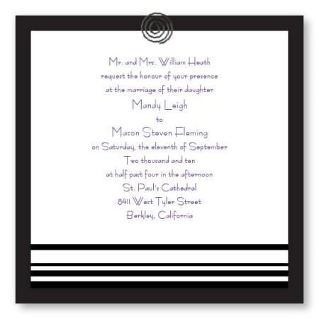Clipped Classic Unique Wedding Invitations