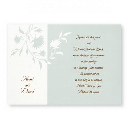 Color Blossom Floral Wedding Invitations