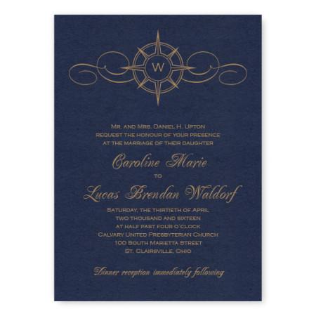 Compass Unique Wedding Invitations