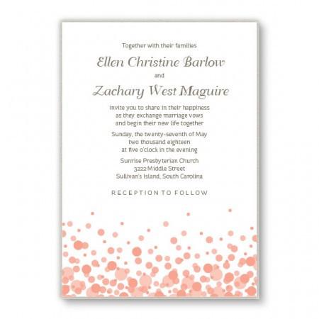 Confetti 2-Layer Custom Wedding Invitations