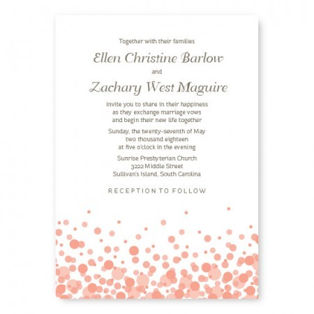 Confetti Custom Wedding Invitations