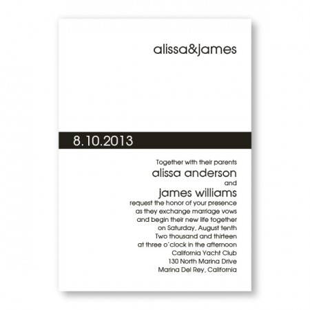 Contemporary Band Wedding Invitations