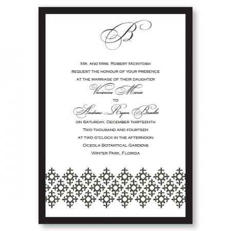 Contessa Monogram Wedding Invitations