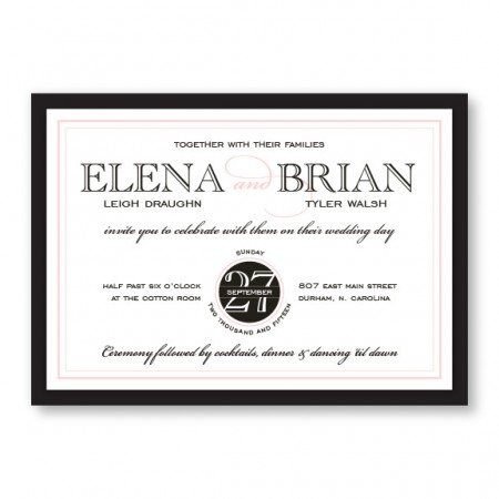 Cosmopolitan 2-Layer Wedding Invitations