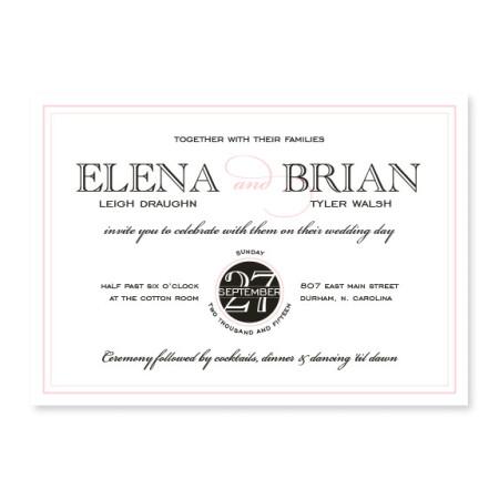 Cosmopolitan Modern Wedding Invitations