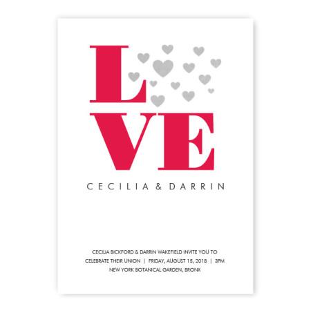 Courtney Heart Wedding Invitations