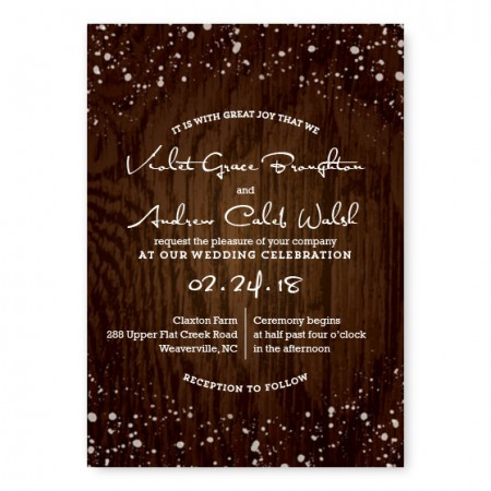 Cozy Cabin Nature Wedding Invitations