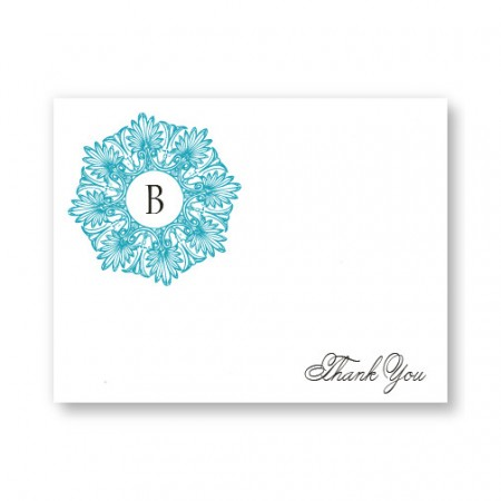 Alluring Initial Letterpress Thank You Cards