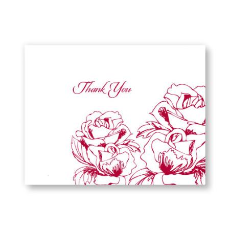 Freshly Bloomed Letterpress Thank You Cards