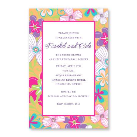 Crazy Floral Invitations