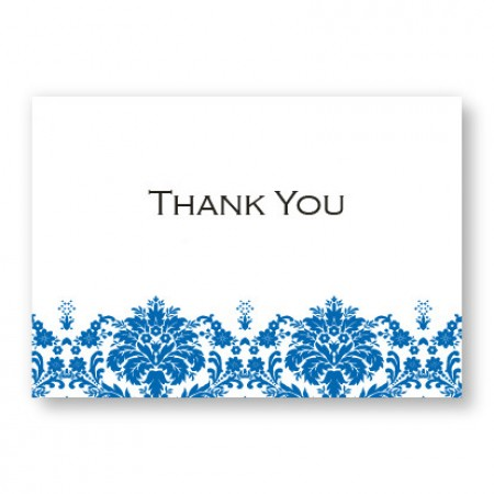 Damask Edge II Thank You Cards