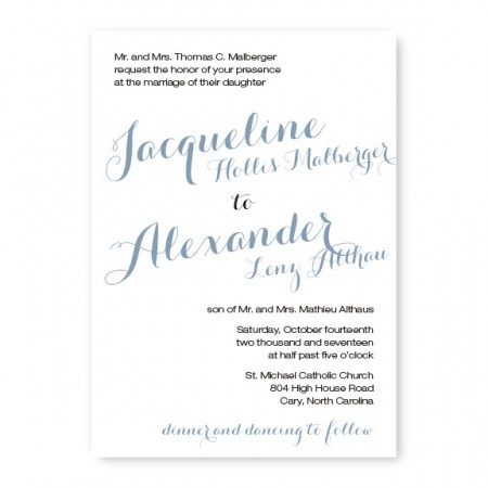 Darling Classic Wedding Invitations