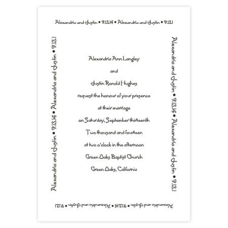 Designer Love Classic Wedding Invitations