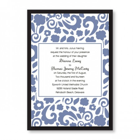 Divine Floral Elegance Wedding Invitations