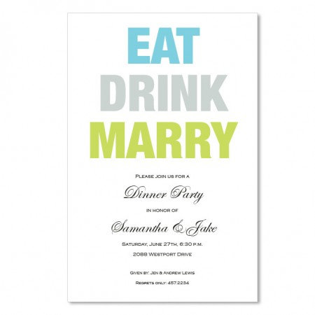 Eat Drink Marry Invitations