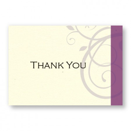 Elegant Swirl Thank You Cards
