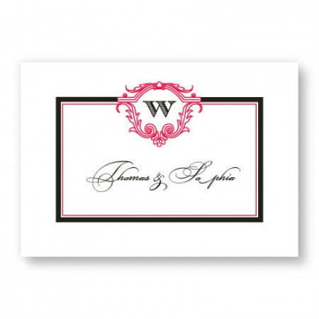 Charmed Initial Thank You Cards