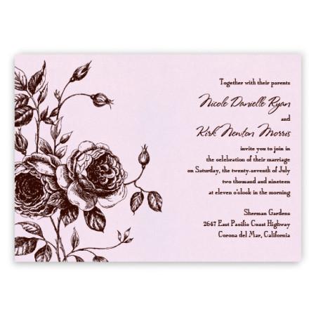 Elizabeth Floral Wedding Invitations