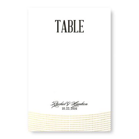 Ellington Foil Table Cards