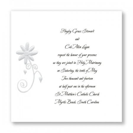 Enchanted Daisy White Floral Wedding Invitations