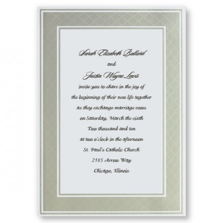 Etched Pearl Frame Wedding Invitations