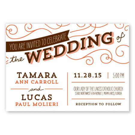 Fanfare Vintage Wedding Invitations
