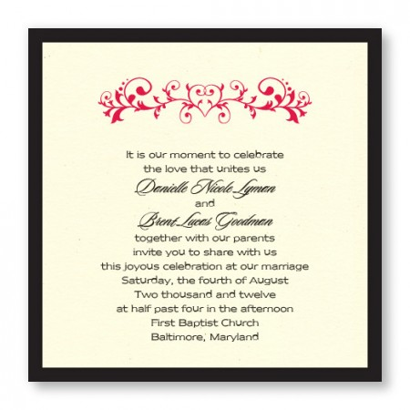 Fleur de Love Wedding Invitations
