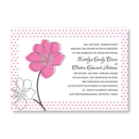 Floral Banner Wedding Invitations