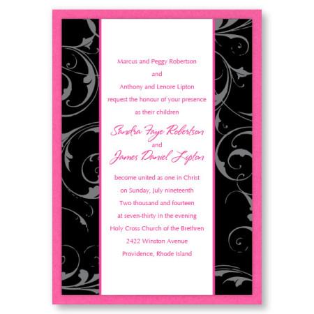 Flourishing Love Swirl Wedding Invitations