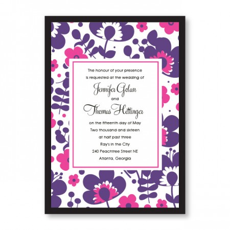 Flower Garden Wedding Invitations