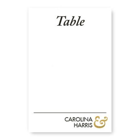 Foil Ampersand Table Cards