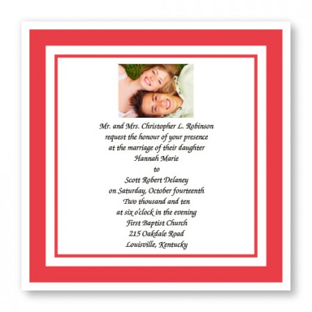 Forever Yours Photo Wedding Invitations