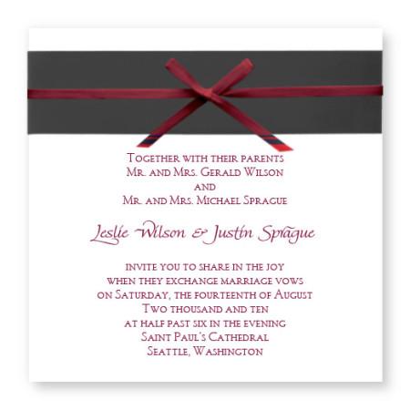 Formal Affair Unique Wedding Invitations