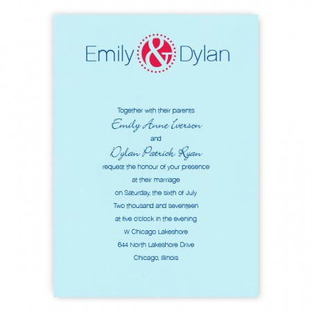 Frankie Thermogrpahy Wedding Invitations