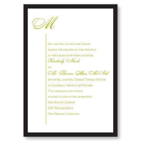 Graceful Style II Wedding Invitations