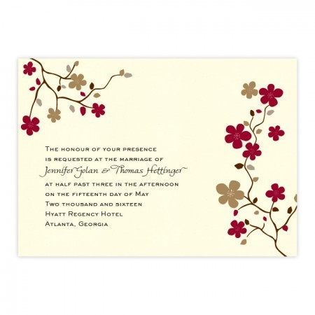 Delicate Vines Floral Wedding Invitations