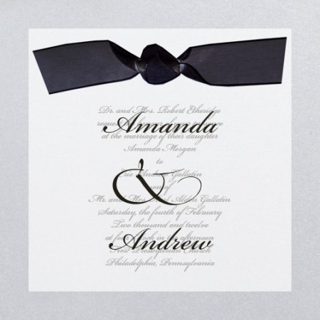Happy Together Silver Custom Wedding Invitations