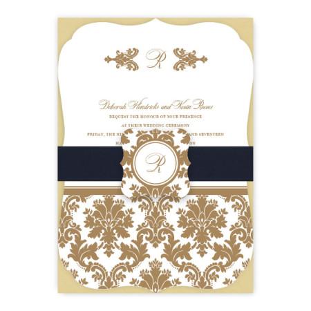 Harlow Monogram Wedding Invitations