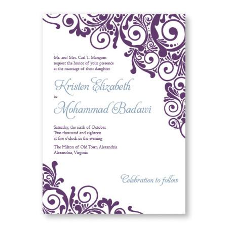 Henna Unique Wedding Invitations