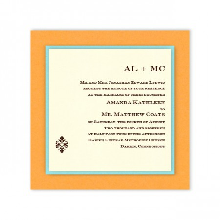 Josie 3-Layer Thermography Wedding Invitations