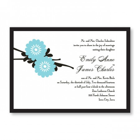 Jubilation Floral Wedding Invitations