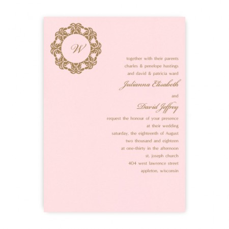 Katrina Monogram Wedding Invitations