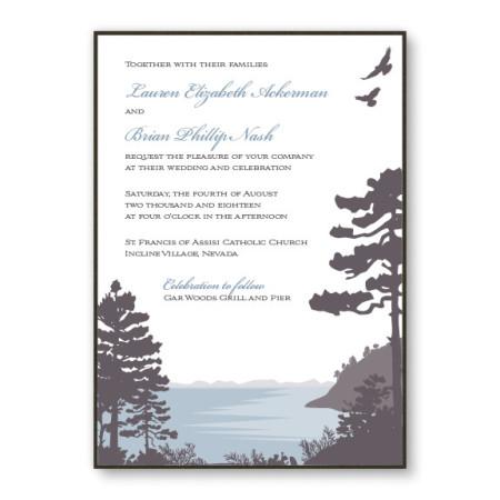 Lakeside 2-Layer Nature Wedding Invitations