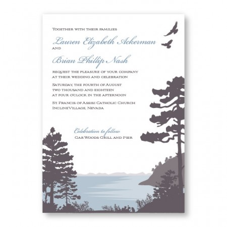 Lakeside Nature Wedding Invitations